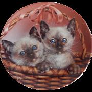 Bradford Exchange Sammy & Sarah Kitty Cat Plate