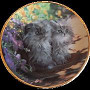 Franklin Mint Sitting Pretty Kitty Cat Plate