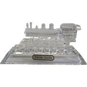 Hofbauer Crystal Casey Jones Train Locomotive Paperweight