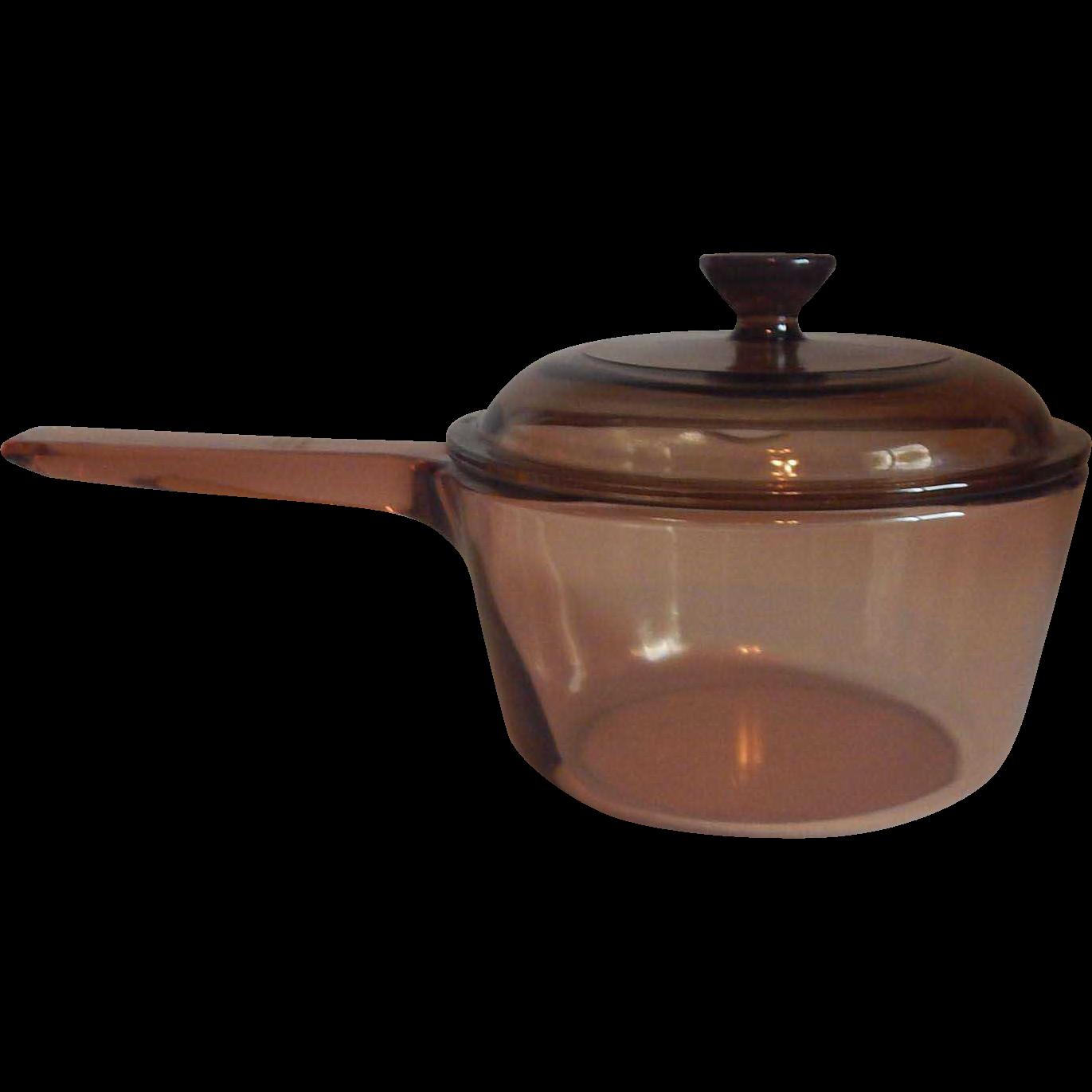 Corning Ware Amber Vision Saucepan