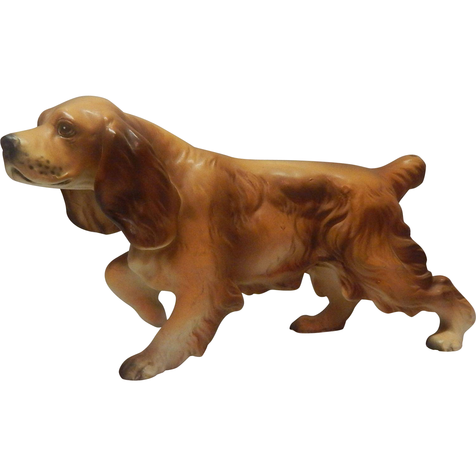 Cocker Spaniel Pointing Dog Figurine