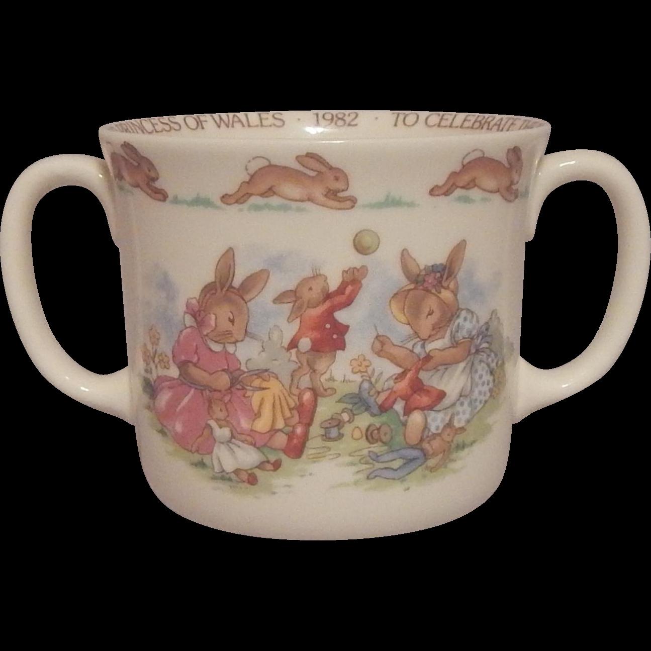 Royal Doulton Bunnykins Mug Commemorative Birth of Prince WIlliam