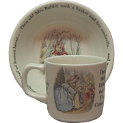 Wedgwood Petter Rabbit Cereal Bowl and Mug