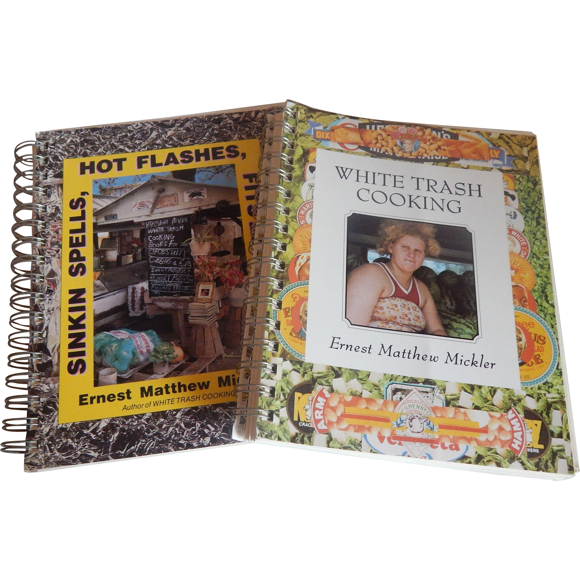Two Ernest Matthew Mickler Cookbooks plus a bonus one