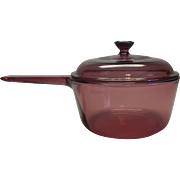 Corning Ware Cranberry Vision Saucepan with Lid