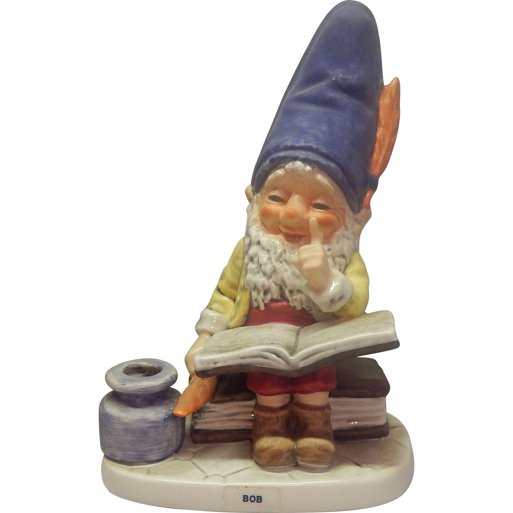 Goebel Co-Boy Bob the Bookworm Gnome Figurine