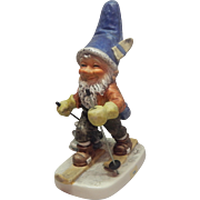 Goebel Co-Boy Toni the Skier Gnome Figurine