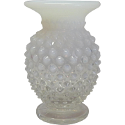 Fenton White Opalescent Small Vase