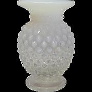 Fenton White Opalescent Small Vase