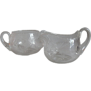 Crystal  Creamer and Sugar Set