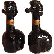 Black Poodle Salt and Pepper Shakers