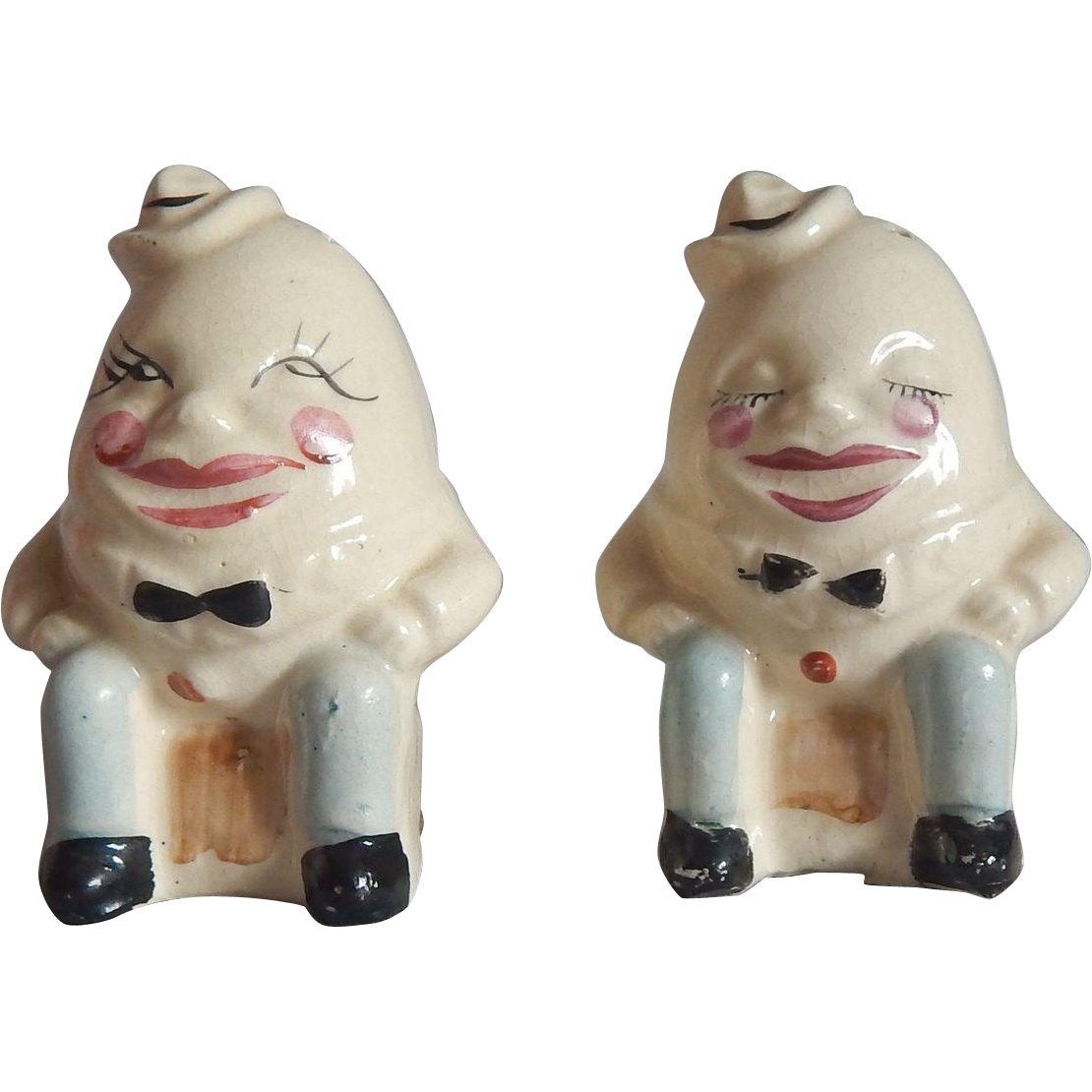 Humpty Dumpty Salt and Pepper Shakers