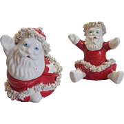 Spagetti Santa Claus Salt and Pepper Shakers