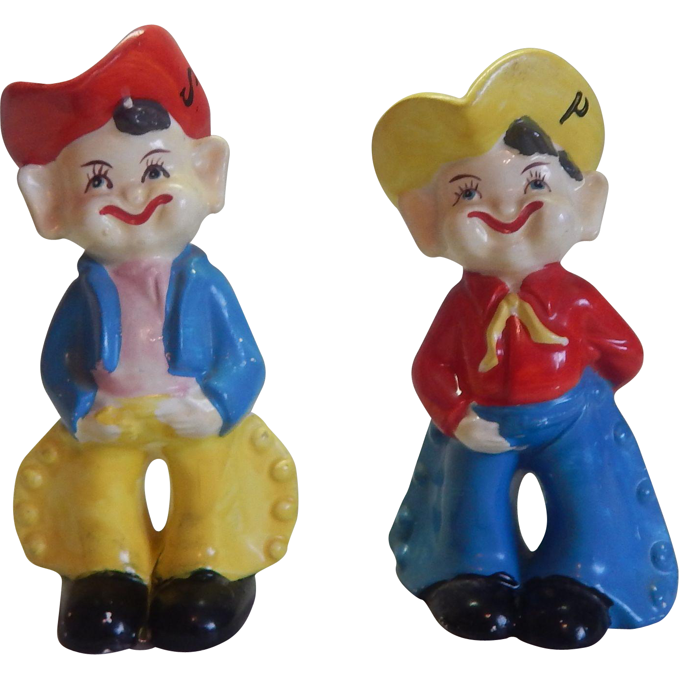 Western Cowboy Salt and Pepper Shakers
