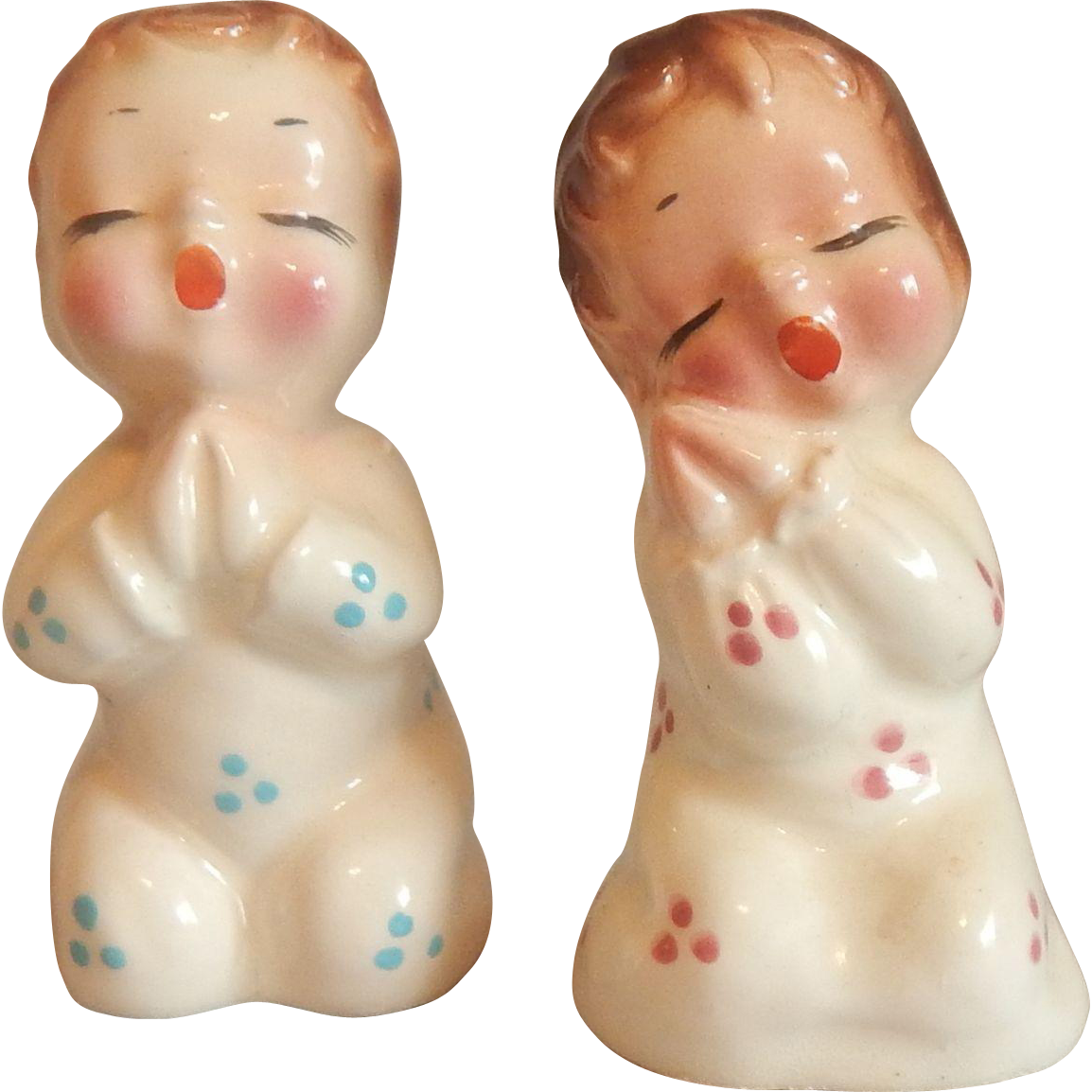 Praying Children Salt and Pepper Shakers