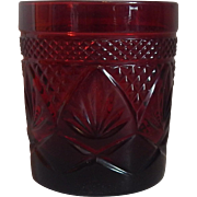 Cristal D'Arques Ruby Red Old Fashioned Glass