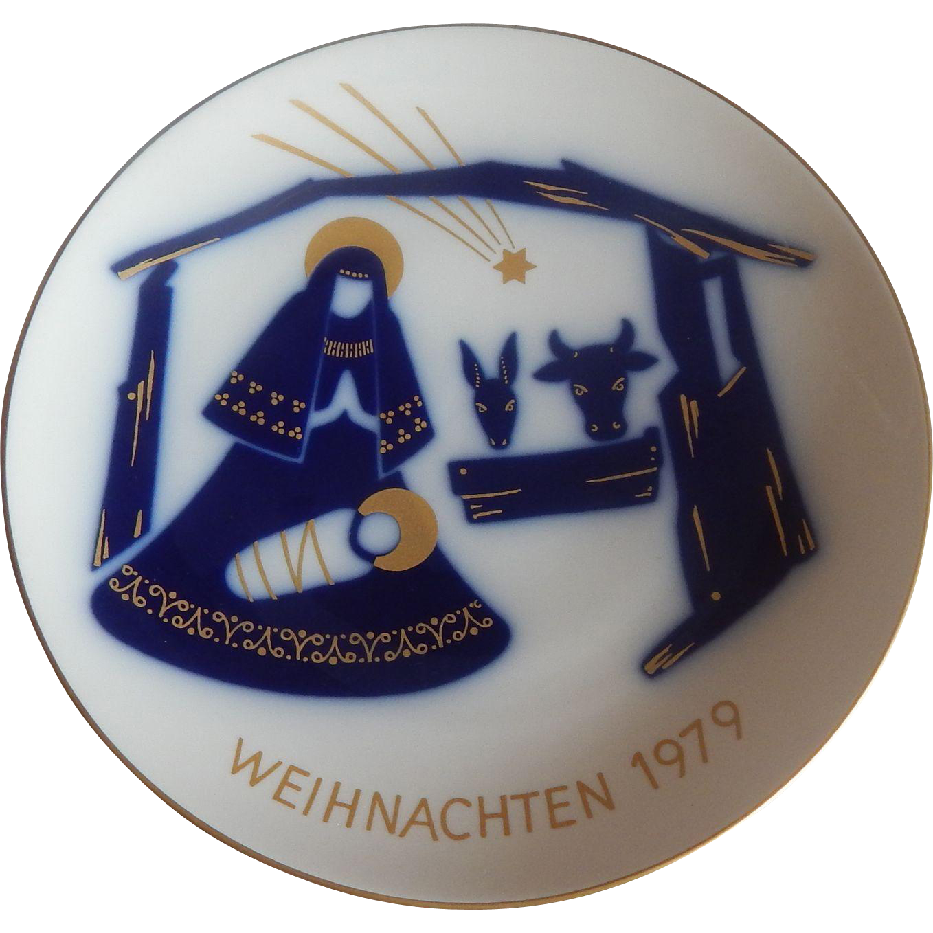 KPM Nativity Scene Christmas Plate