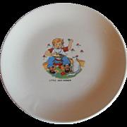 Little Jack Horner Nursery Rhyme Plate