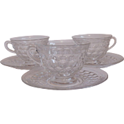 Three Fostoria American Cup and Saucer