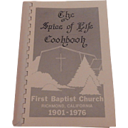 The Spice of LIfe Cookbook  Richmond, California