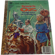 A Little Golden Book Return To Oz