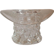 Fostoria Glass American Crystal Hat