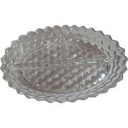 Fostoria American  Crystal Divided Dish