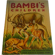 Wonder Book Bambi's Children