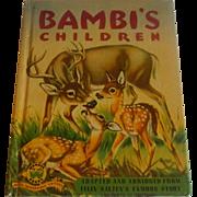 Wonder Book Bambi's Children