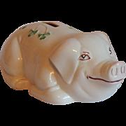 Belleek Ireland Pig Piggy Bank