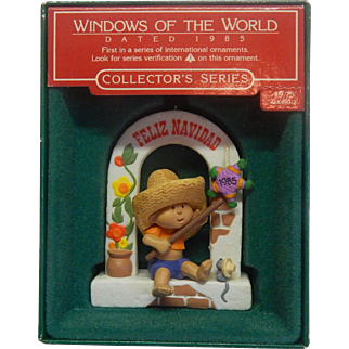 Hallmark Window of the World 1985 Christmas Ornament