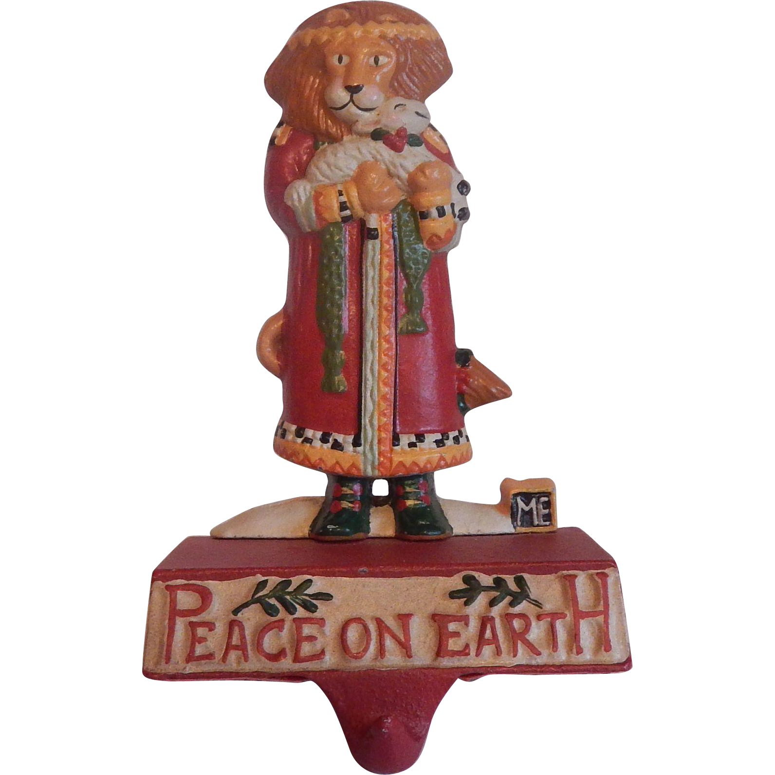 Midwest Mary Engelbreit Peace On Earth Lion and Lamb Stocking Hanger