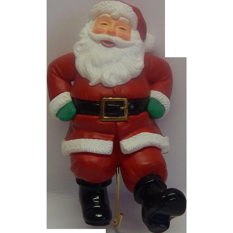 Hallmark Santa  Christmas Stocking Hanger