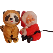 Santa and Racoon Christmas Tree Hugger