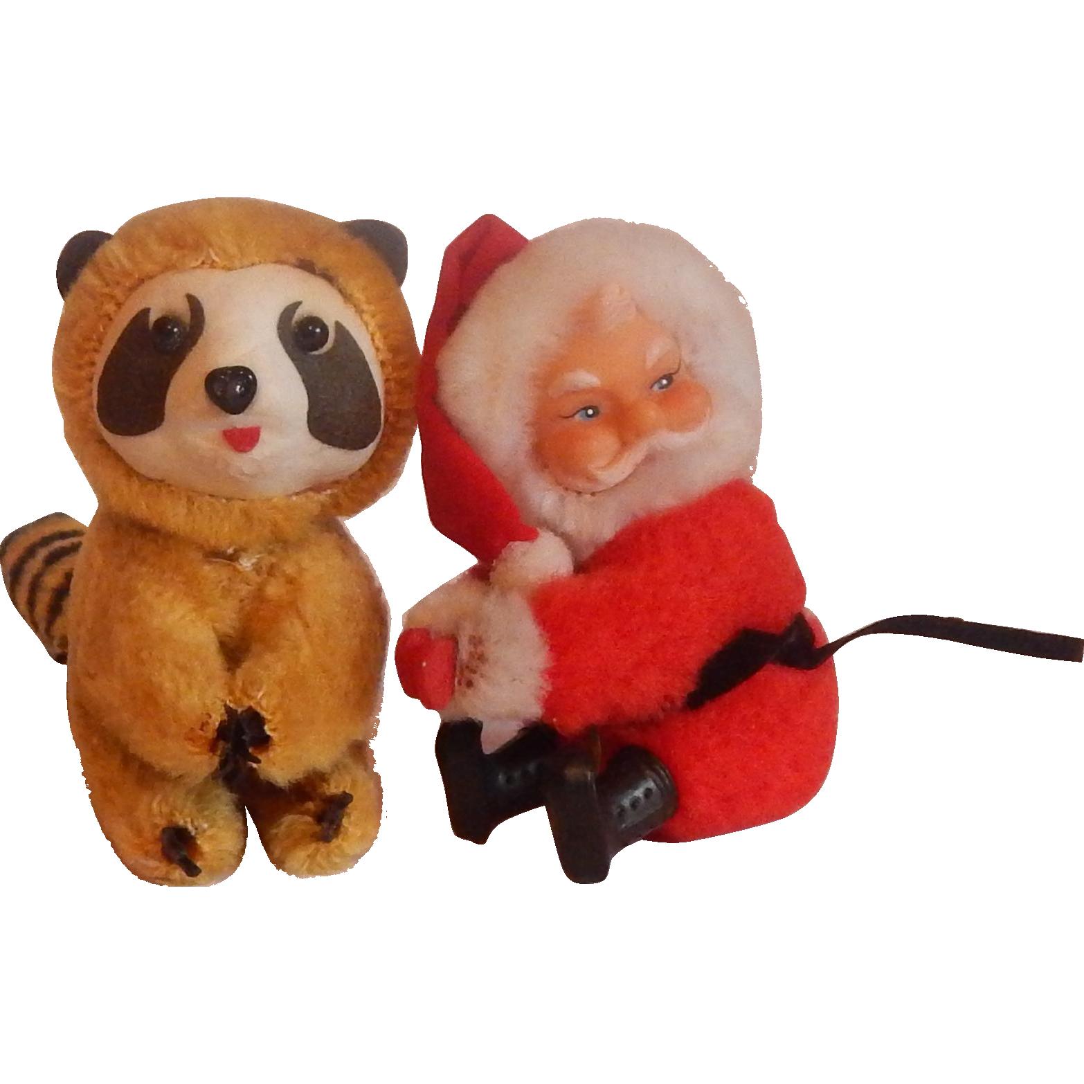 Santa and Racoon Christmas Tree Hugger