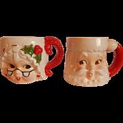 Lefton Santa and Mrs. Claus Mugs