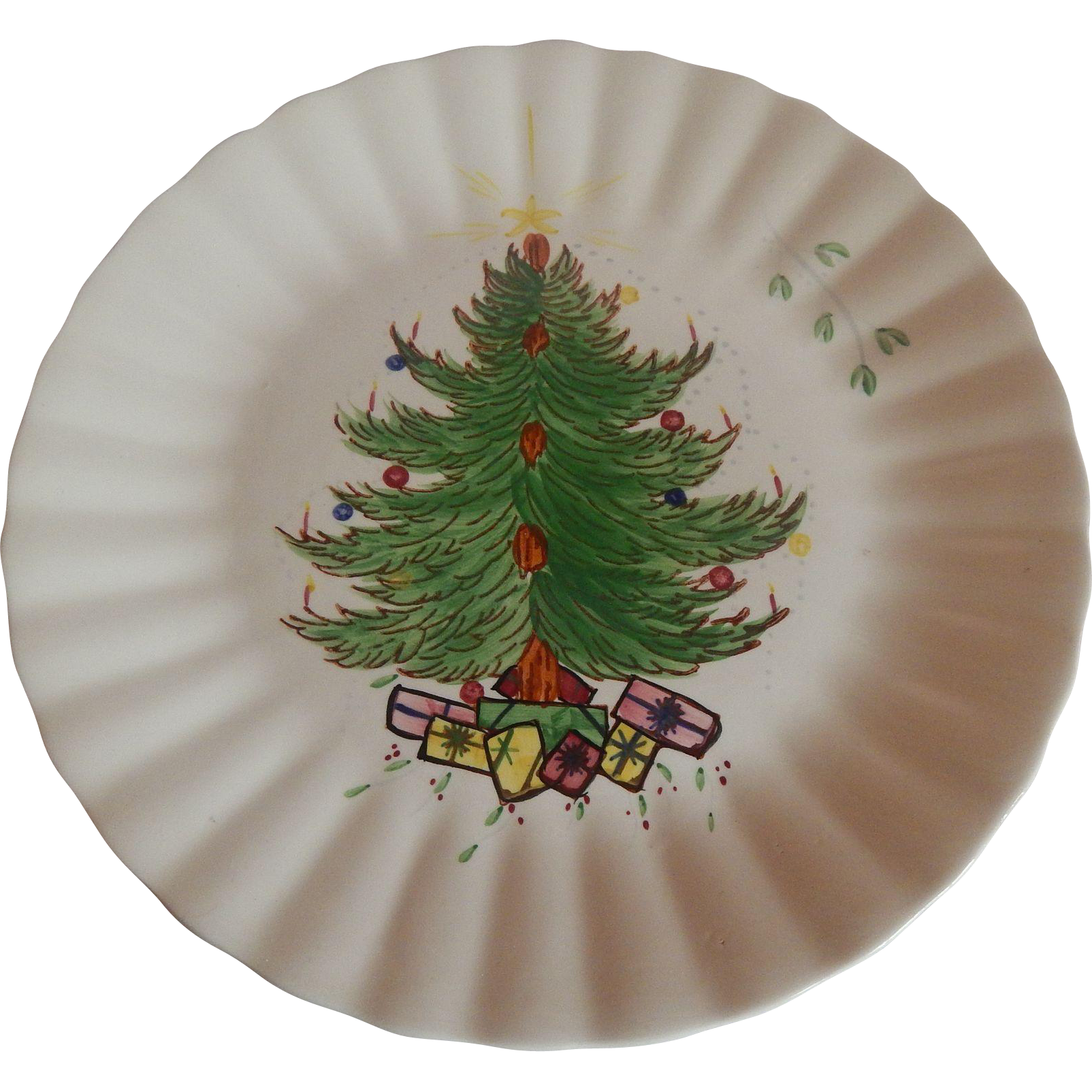 Blue Ridge Christmas Tree Plate
