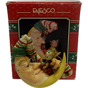 Enesco Mouse On The Moon Chirstmas NIte Cap