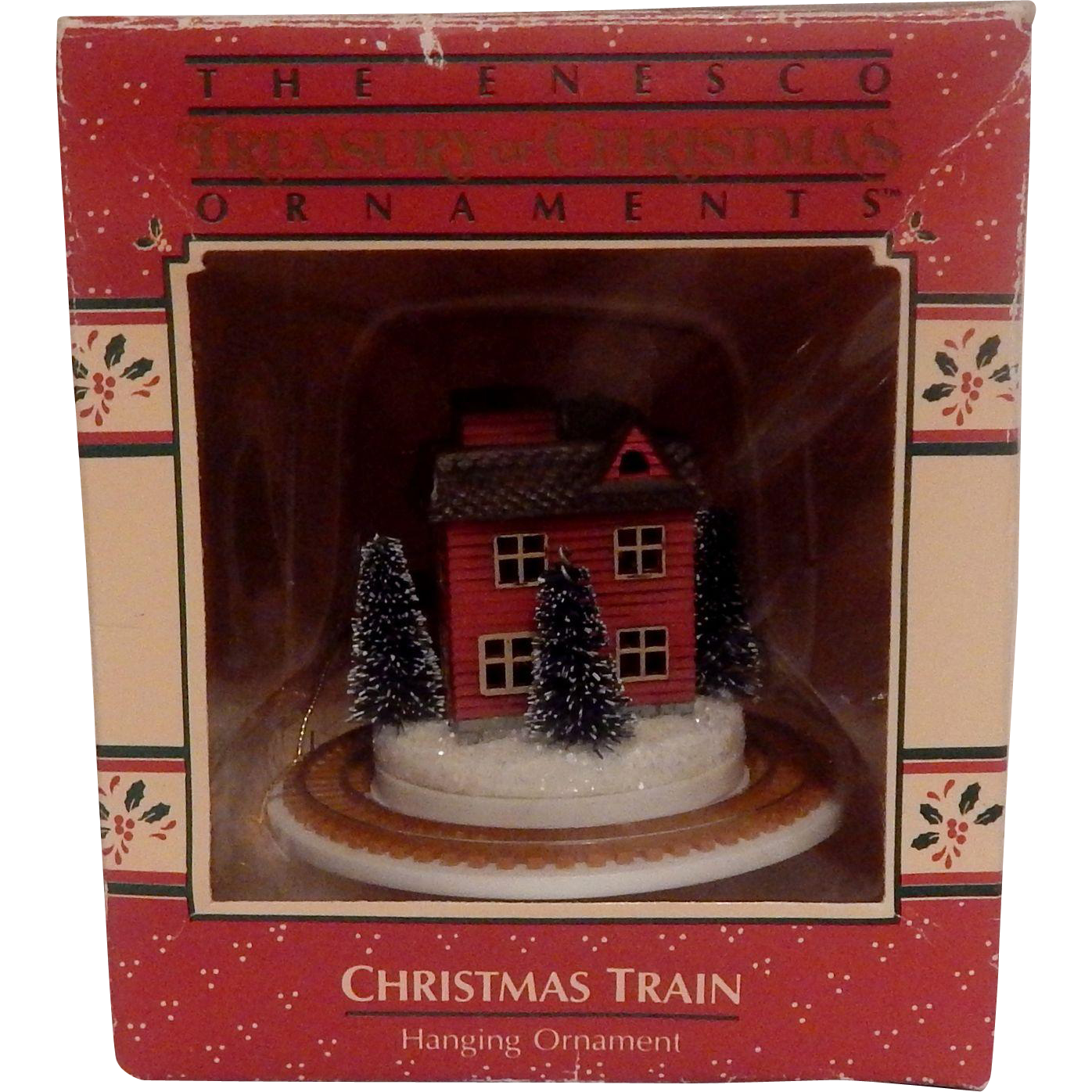 1988 Enesco Christmas Train Hanging Ornament