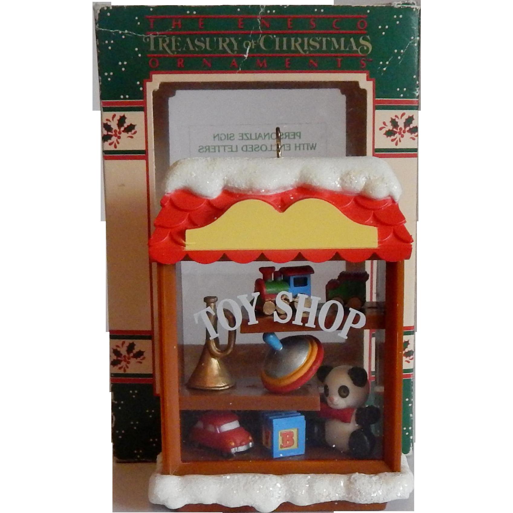 Enesco 1983 Toy Shop Christmas Ornament