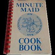 Minute Maid Lexington Massachusetts Cookbook 1975