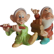 Two Disney Snow White Dwarf Figurine