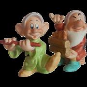 Two Disney Snow White Dwarf Figurine