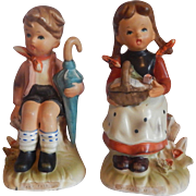 Two Erich Stauffer Children Figurines
