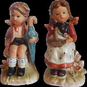 Two Erich Stauffer Children Figurines