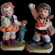 Napcoware Boy and Girl Figurine