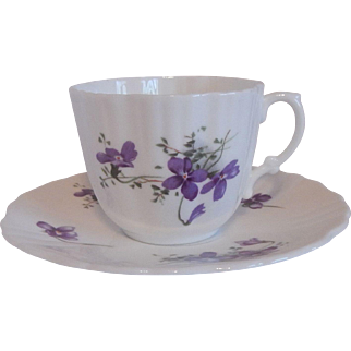 Hammersley Violet Cup and Saucer Set