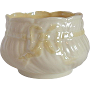 Irish Belleek Bow Tie Sugar Bowl