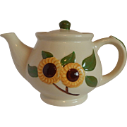 Shawnee Pottery Sunflower Tea Pot
