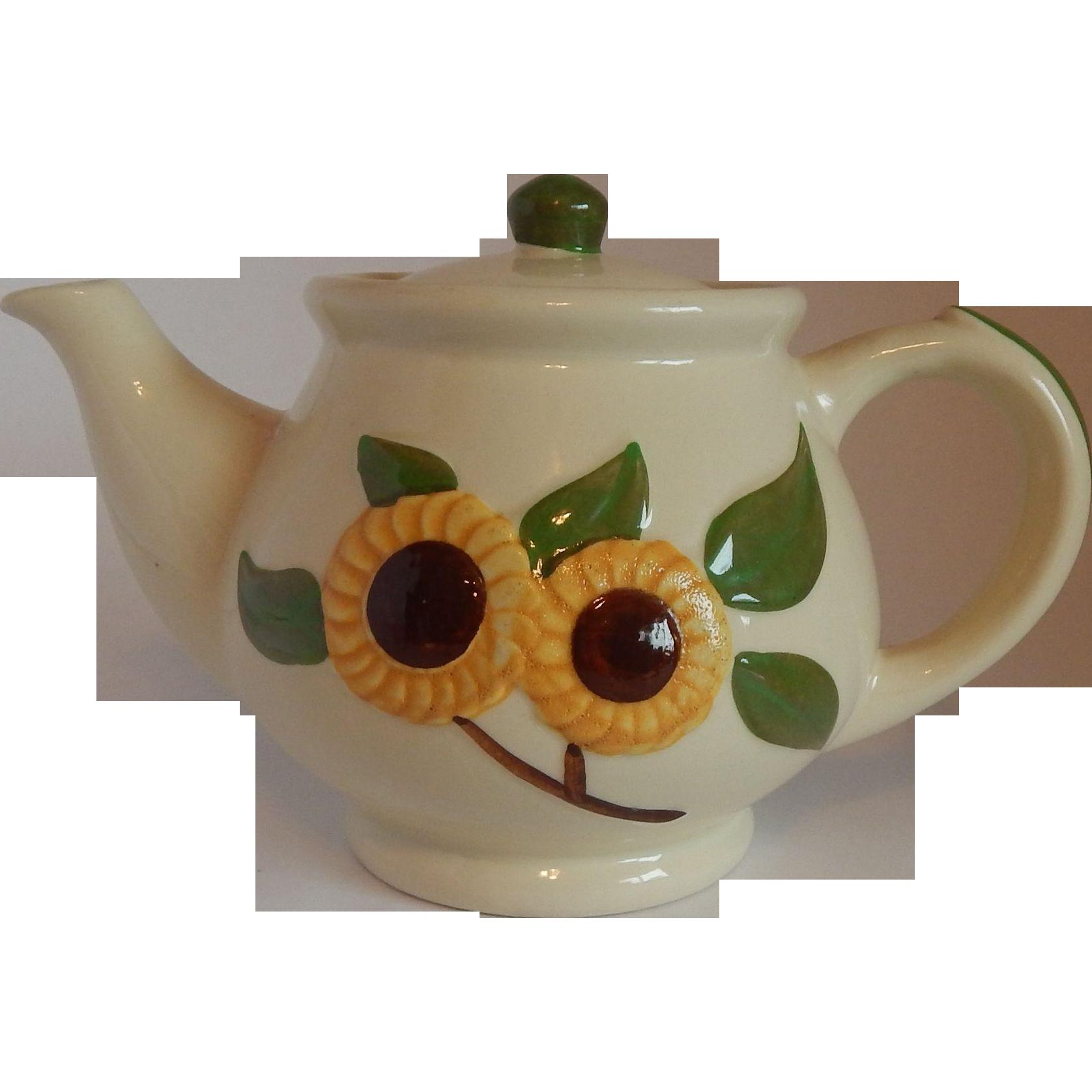 Shawnee Pottery Sunflower Tea Pot
